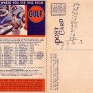 Gulf Refining Company Advertising Map Postcard - 045 NJ