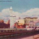 Railroad Center of Seattle Washington WA Linen Postcard - 4281