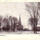 Conant Square in Brandon Vermont VT 1908 Vintage Postcard - 4299