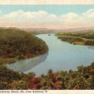 View of Rockaway Beach from Highway 76 in Missouri MO, 1931 Curt Teich Linen Postcard - 4317