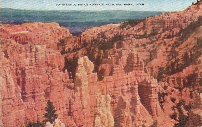 Fairyland Bryce Canyon National Park in Utah UT, Chrome Postcard - 4337
