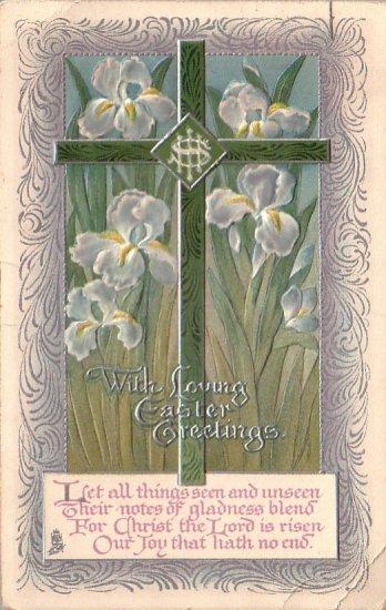Raphael Tuck & Sons 1921 Easter Vintage Postcard- 4341