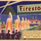 Firestone Singing Color Fountain at 1933 Chicago World's Fair, Vintage Postcard - 4361