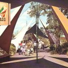 Walking Toward the Mexican Section at Six Flags over Texas, Chrome Postcard - 4365