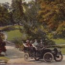 Antique Automobile in Bever Park at Cedar Rapids Iowa IA, 1911 Vintage Postcard - 4397