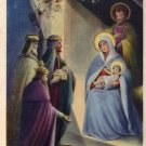 Buon Natale, Christ Nativity Scene with Wise Men Italian Vintage Postcard - 4421