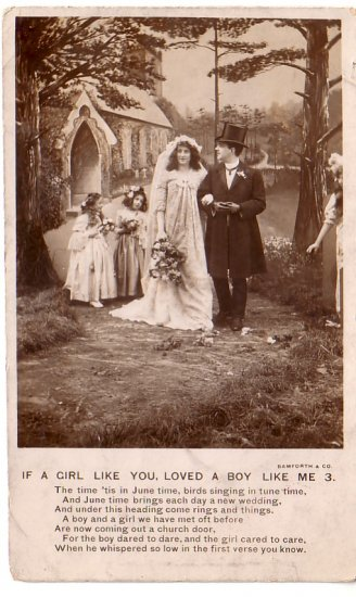 If a Girl Like You, Verse 3, Bamforth Song Postcard - 4458