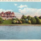 C.G. Emery Estate on Calumet Island near Clayton, Thousand Islands New York NY Postcard - 4460