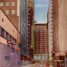 Akard Street Canyon in Dallas Texas TX 1954 Curt Teich Linen Postcard - 4477