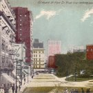 Griswold Street in Detroit Michigan MI Vintage Postcard - 4486