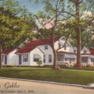 The Gables Cabins in Wisconsin Dells Wisconsin WI 1953 Linen Postcard - 4492