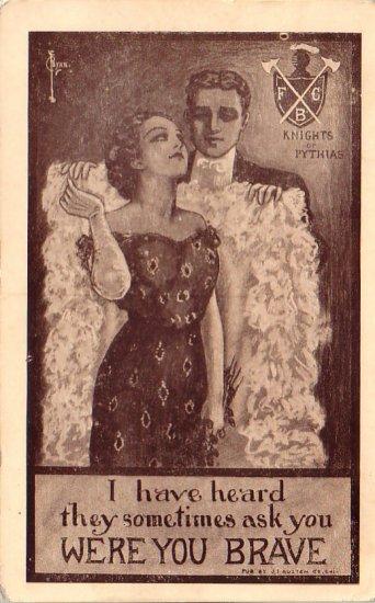 Knights of Pythias Comic Vintage Postcard - 4521