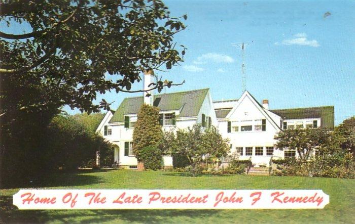 Home of Late President John F. Kennedy Cape Cod Massachusetts MA Chrome Postcard - 4528