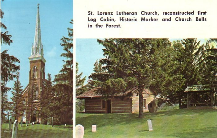 St. Lorenz Lutheran Church in Frankenmuth Michigan MI, 1973 Chrome Postcard - 4534