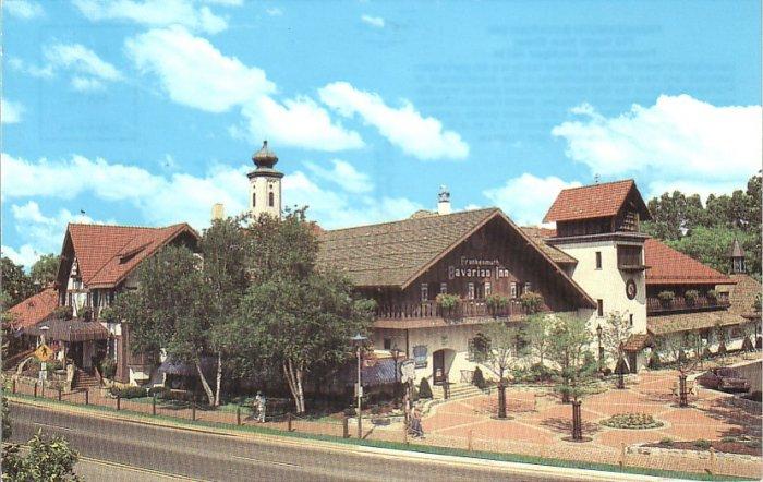 Frankenmuth Bavarian Inn Michigan MI 1987 Chrome Postcard - 4538