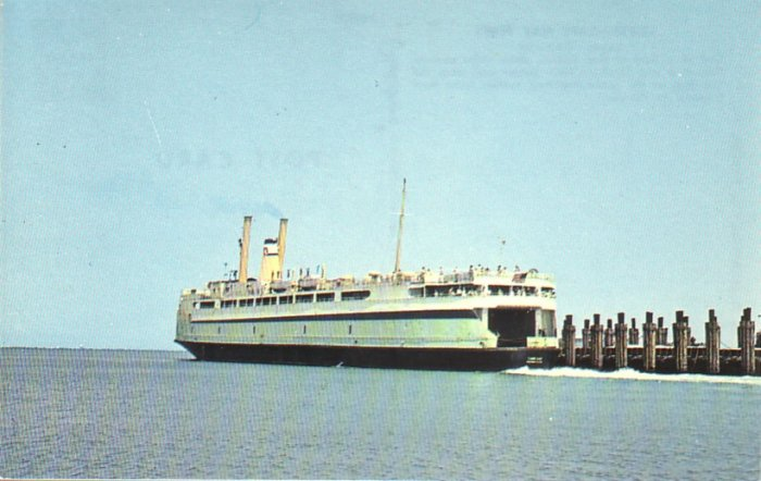 Lewes - Cape May Ferry Delaware DE Chrome Postcard - 4542
