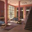 Vandenberg Hall Lounge at Keesler Air Force Base in Mississippi MS, Chrome Postcard - 4543