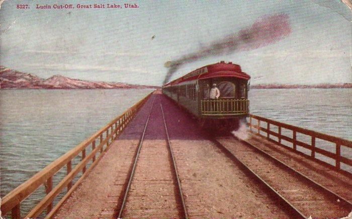 Lucin Cut Off Great Salt Lake Utah UT 1911 Vintage Postcard - 4562