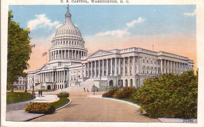United States Capitol in Washington D.C. Vintage Postcard - 4566