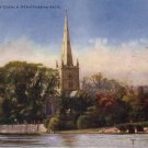 Holy Trinity Church at Stratford On Avon England, Raphael Tuck Vintage Postcard - 4567