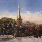 Holy Trinity Church at Stratford On Avon England, Raphael Tuck Vintage Postcard - 4567
