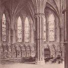 Lincoln Cathedral Chapter House in England, Raphael Tuck & Sons' Vintage Postcard - 4568