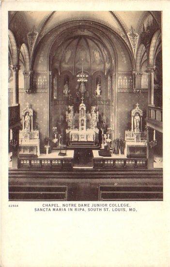 Chapel, Notre Dame Junior College Sancta Maria in Ripa St. Louis Missouri MO Postcard - 4579