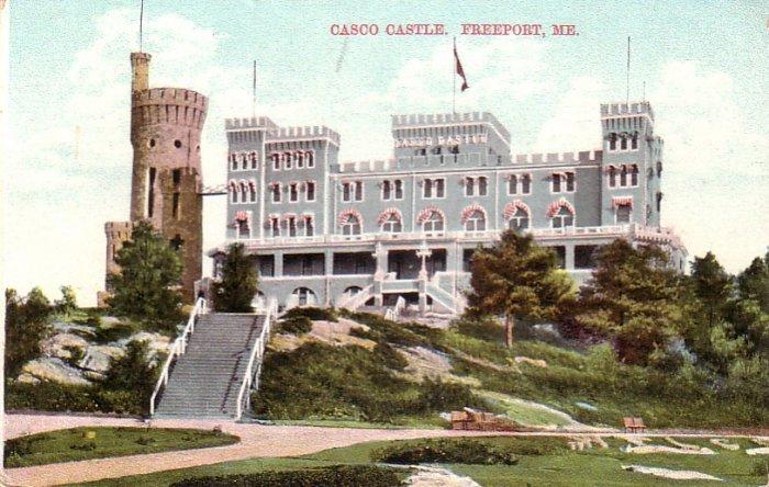 Casco Castle Hotel in Freeport Maine ME Vintage Postcard - 4581