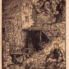 Wandergrup, Man Sitting Michaelis Artist Signed 1912 Vintage Postcard - 4614