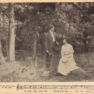 Couple Talking in the Woods, Parlor Song 1908 Vintage Postcard - 4704