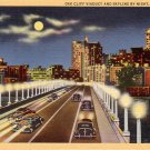 Oak Cliff Viaduct in Dallas Texas TX 1936 Curt Teich Linen Postcard - 4715