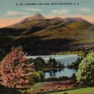 Mt. Chocorua and Lake in White Mountains New Hampshire NH Linen Postcard - 4716