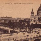 Lustgarten Garden and Museum in Berlin Germany 1922 Vintage Postcard - 4719