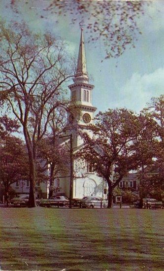 Congregational Church in Falmouth Massachusetts MA Chrome Postcard - 4766