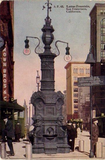 Lottas Fountain San Francisco California CA Edward H. Mitchell Postcard - 4781