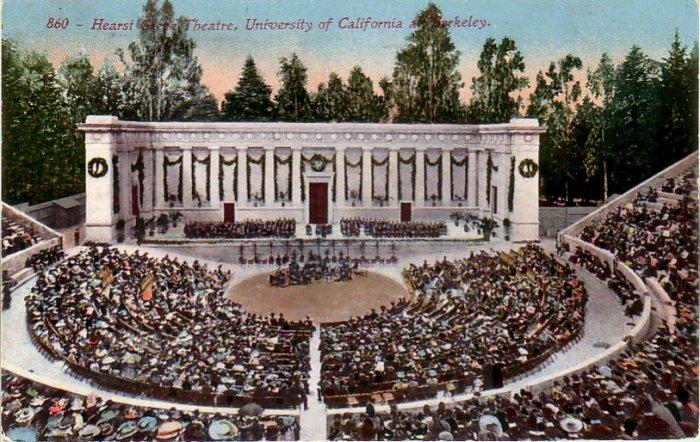 Hearst Greek Theatre at University of California, Berkeley CA Vintage Postcard - 4786