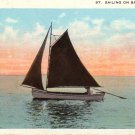 Sailing on Bay Erie Pennsylvania PA Vintage Postcard - 4813
