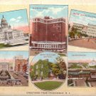 Greetings from Providence Rhode Island RI Curt Teich Vintage Postcard - 4816
