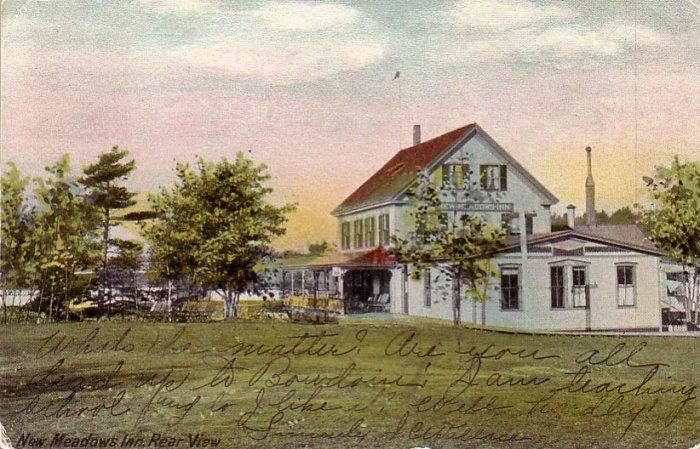 New Meadows Inn in Bath Maine 1906 Vintage Postcard - 4820