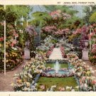 View of Jewel Box at Forest Park in St. Louis Missouri MO !934 Curt Teich Linen Postcard - 4835