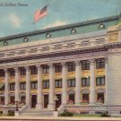 Dallas City Hall in Texas TX, Mid Century Linen Postcard - 4857
