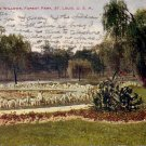 Weeping Willows in Forest Park, St. Louis Missouri MO 1907 Vintage Postcard - 4858