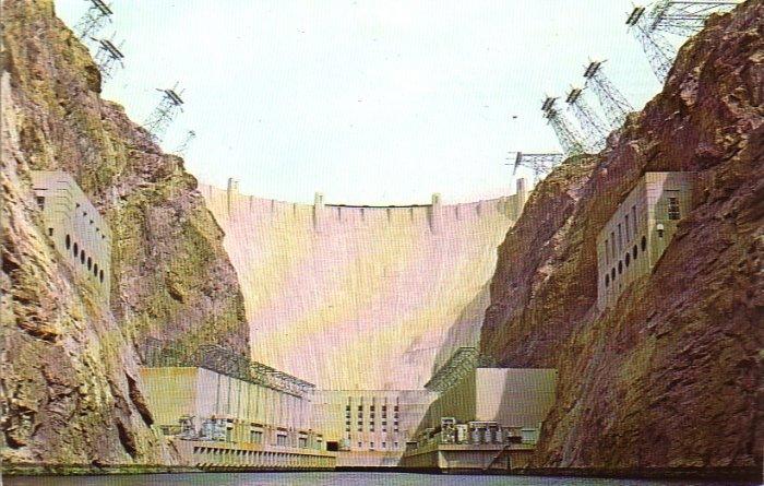 Hoover Dam Nevada NV Chrome Postcard - 4911