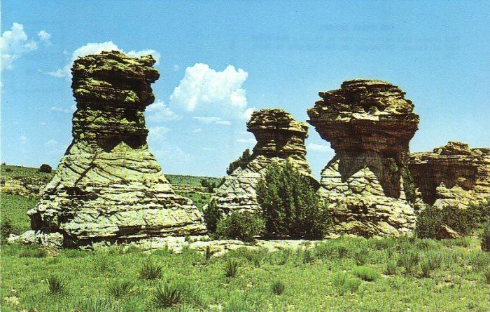 The Three Sisters near Kenton Oklahoma OK Chrome Postcard - 4917