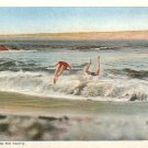 Surf Bathing on the Pacific Vintage Postcard - 4918