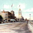 The Boulevard at Revere Beach Massachusetts MA Vintage Postcard - 4935