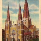 Catholic Cathedral in Tulsa Oklahoma OK 1936 Curt Teich Linen Postcard - 4952