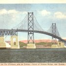Island of Orleans Bridge near Quebec Canada Mid Century Postcard - 4957