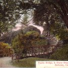 Rustic Bridge & Stone Steps on Campus University of California Berkeley CA Postcard - 4971