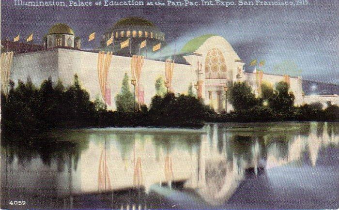 Palace of Education 1915 Panama Pacific International Exposition Edward H. Mitchell Postcard - 4978